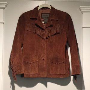 GUC Brandon Thomas real suede fringe jacket xs